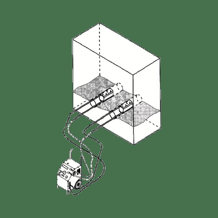 HP 1000 mit 2 Presszylindern SZ 250 (horizontal)