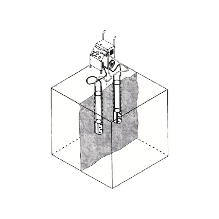 HP 1000 mit 2 Presszylindern SZ 250 (vertikal)