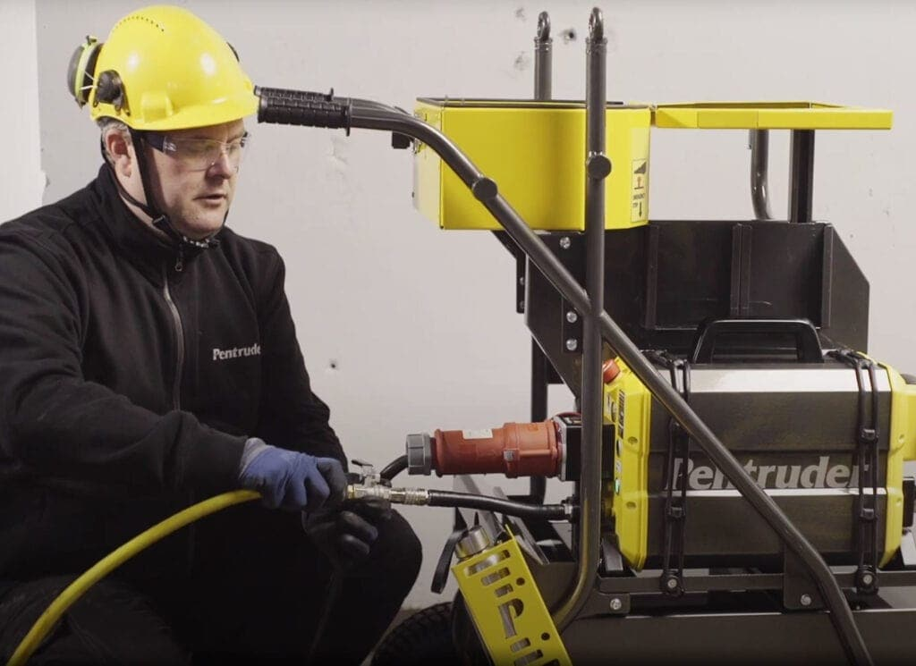 How to connect your Pentruder HFi Wall saw